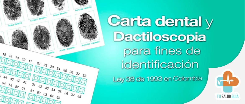 Carta dental y dactiloscopia para identificacion