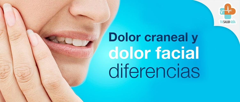 Diferencias entre dolor craneal y dolor facial