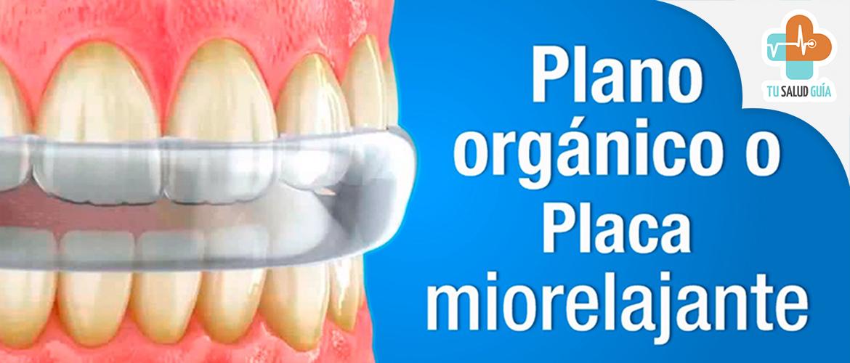 Plano organico o placa miorelajante