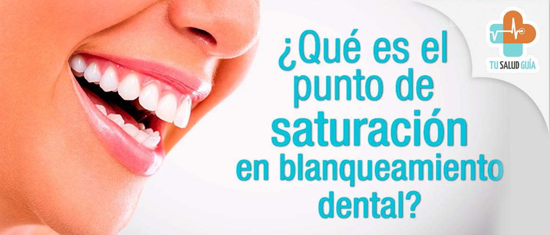 Punto de saturacion en blanqueamiento dental