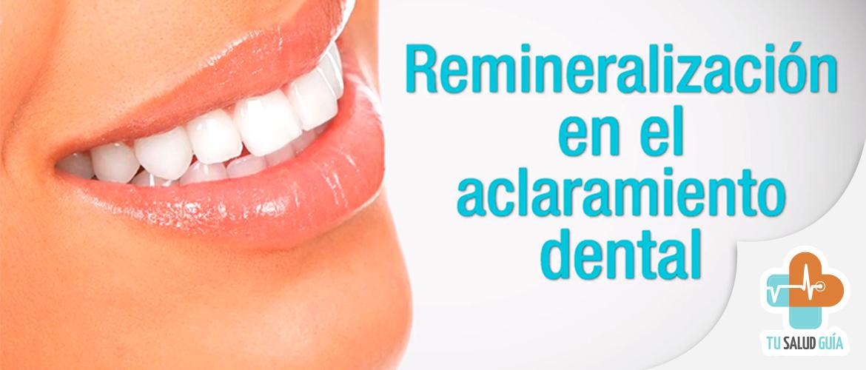 Remineralizacion en el blanqueamiento dental