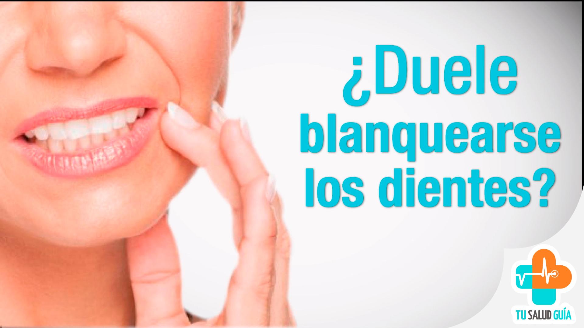 ¿Duele blanquear los dientes?